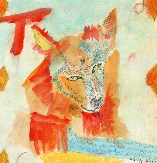 Wolf Six of Diamonds